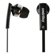 Гарнитура SmartBuy OK для мобильных устройств, черная, вставная, плоский кабель (SBH-130)