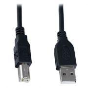 Кабель USB 2.0 Am=>Bm - 1.8 м, черный, VS (U118)