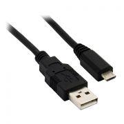 Кабель USB 2.0 Am=>micro B - 1.0 м, черный, VS (U010)