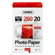 Бумага A6 VIDEX глянцевая 260 г/м, 10x15 см, 20 листов (HGA6-260/20)