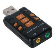 Звуковая карта USB ORIENT AU-01PL, регулировки, черная
