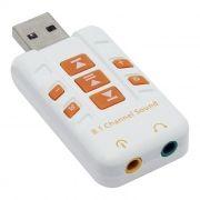 Звуковая карта USB ORIENT AU-01PLW, регулировки, белая