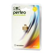 Адаптер OTG USB 2.0 Af - micro Bm, золотистый, Perfeo PF-VI-O003