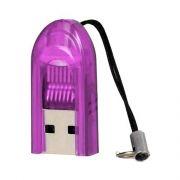 Карт-ридер внешний USB Perfeo PF-VI-R015 для microSD, фиолетовый