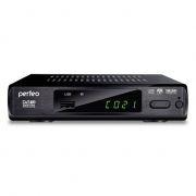 Цифровой телевизионный ресивер DVB-T2 PERFEO PF-168-3, отремонтированный