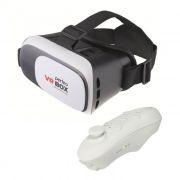 Очки виртуальной реальности для смартфона с пультом, белые, Perfeo PF-VR BOX 2+ (PF_5058)