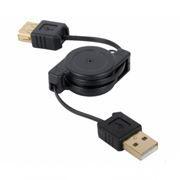 Кабель удлинитель USB 2.0 Am=>Af - 0.75 м, на рулетке, Konoos (KCR-USB2-AMAF-0.75)