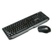 Комплект NAKATOMI KMRON-1010U Black USB, беспроводные клавиатура и мышь