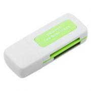 Карт-ридер внешний USB ORIENT CR-011G, белый с зеленым (30364)