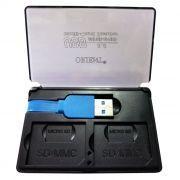 Карт-ридер внешний USB ORIENT CR-305, 2 x SD/2 x microSD, черный, USB 3.0 (30033)