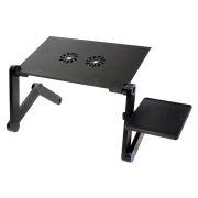 Раскладной портативный столик для ноутбука Orient FTNB-01N, вентиляторы, подставка, черный