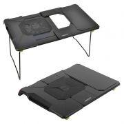 Раскладной портативный столик для ноутбука Orient FTNB-03, вентилятор, подставка, черный
