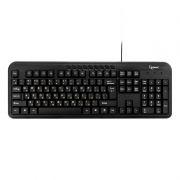 Клавиатура GEMBIRD KB-8330UM-BL, Multimedia, черная, USB
