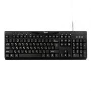 Клавиатура GEMBIRD KB-8335UM-BL, Multimedia, черная, USB