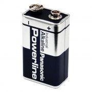 Батарейка 9V PANASONIC 6LR61/1SH Powerline, щелочная, термопленка