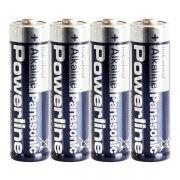Батарейка AA Panasonic LR6/4SH Powerline, 4шт, термопленка