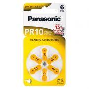 Батарейка Panasonic PR10 для слуховых аппаратов, 6 шт, блистер