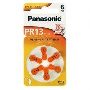 Батарейка Panasonic PR13, ZA13 для слуховых аппаратов, 6 шт, блистер