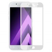 Защитное стекло для экрана Samsung Galaxy A7 (17) White, Full Screen Asahi, Perfeo (91)