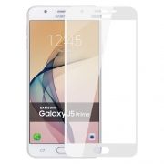 Защитное стекло для экрана Samsung Galaxy J5 Prime White, Full Screen Asahi, Perfeo (105) (PF_5092)