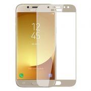 Защитное стекло для экрана Samsung Galaxy J7 (17) Gold, Full Screen Asahi, Perfeo (PF_5088)