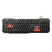 Клавиатура DIALOG KM-015U USB, черный/красный