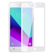 Защитное стекло для экрана Samsung Galaxy J2 Prime White, Full Screen Asahi, Perfeo (103)