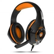 Гарнитура CROWN CMGH-102T Black/Orange, игровая, USB