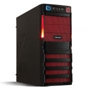 Корпус Miditower CROWN CMC-SM162 Black/Red ATX, без блока питания