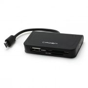 Карт-ридер внешний OTG micro USB/USB CROWN CMCR-B13