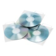 Конверт-файл на 1CD прозрачный, табулятор, 25 шт, Aidata CDP1-25