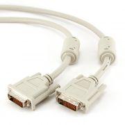 Кабель DVI-D Dual link (24+1) 1.8 м, экран, 2 фильтра, серый, Gembird/Cablexpert (CC-DVI2-6C)