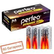 Батарейка AA Perfeo R6/4SH Dynamic Zinc, 60 шт, коробка