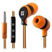 Гарнитура DEFENDER Pulse-456 для iPhone, оранжевая (63456)