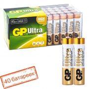 Батарейка AAA GP Ultra Alkaline LR03/2SH, упаковка 40 шт (GP 24AU-OS2)