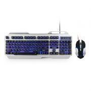 Игровой комплект Гарнизон GKS-510G, клавиатура+мышь, металл, подсветка, черный/серый, USB
