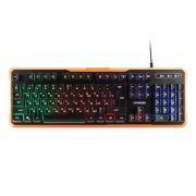 Клавиатура игровая Гарнизон GK-320G USB, радужная подсветка, черная