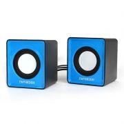 Колонки Гарнизон GSP-100, питание от USB, синий/черный