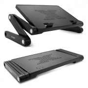 Раскладной портативный столик для ноутбука CROWN CMLS-102, 12- 15.6, алюминий, черный