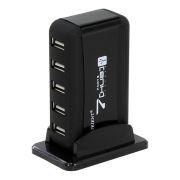 HUB 7-port ORIENT KE-700N с блоком питания 5В/2А (1xUSB), подставка, USB 2.0