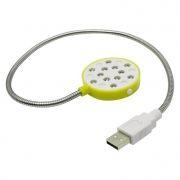 USB Лампа ORIENT L-3006M, 12 светодиодов, выключатель, желтая