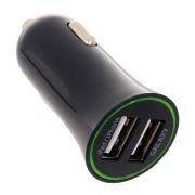 Зарядное автомобильное устройство ORIENT USB-2220AN, 12/24В 2.1А 2xUSB, черное