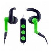 Гарнитура Bluetooth Perfeo RUN-UP, внутриканальная, зеленая/черная (PF-BT-001)