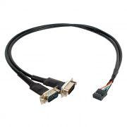 Кабель-адаптер для подключения к мат.плате, USB 8pin ->2xCOM DB9M(RS232), ORIENT UMB-2S