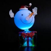 Сувенир ORIENT NY5184 Веселый снежок, многоцветная подсветка, питание от USB