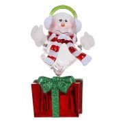 Сувенир ORIENT NY6003 Снеговик - меломан, многоцветная подсветка, питание от USB