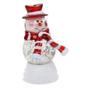 Сувенир ORIENT NY6008 Снеговик Арлекин, многоцветная подсветка, питание от USB