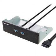 Панель фронтальная 5.25 с 2 портами USB 3.0, Crown CMU3-20