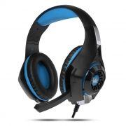 Гарнитура CROWN CMGH-102T Black/Blue, игровая, USB