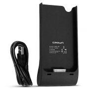 Зарядное устройство CROWN CMPB-198 для iPhone, 30 pin, аккумулятор 1500 мАч, черное